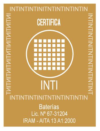 Rapibat venta de baterias en Rosario - certificado INTI